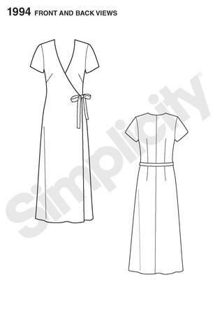 Simplicity 1994 Sew Simple Misses wrap dress