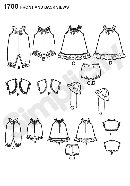 Simplicity 1700 Babies' Dress and Separates