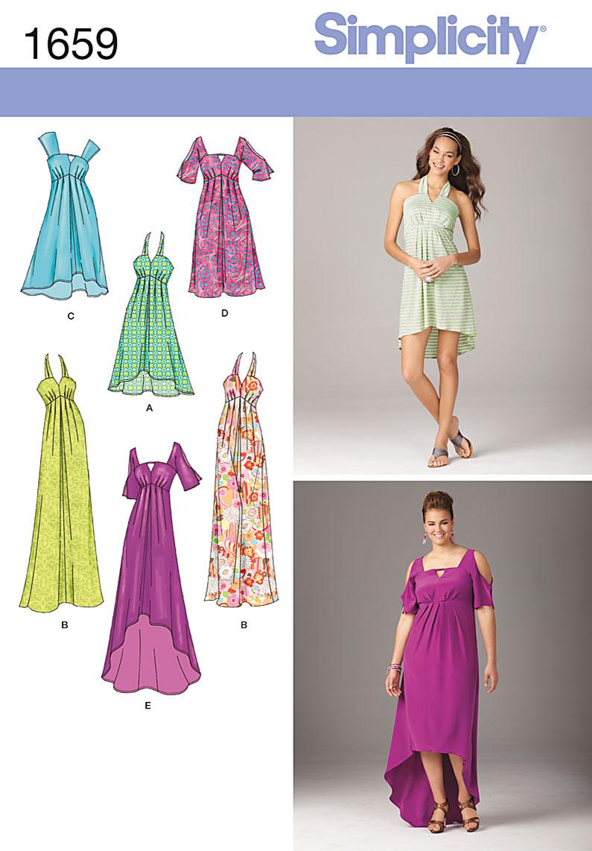 Hi Lo Dress Patterns : dress, patterns, Sewing, Pattern, Dress