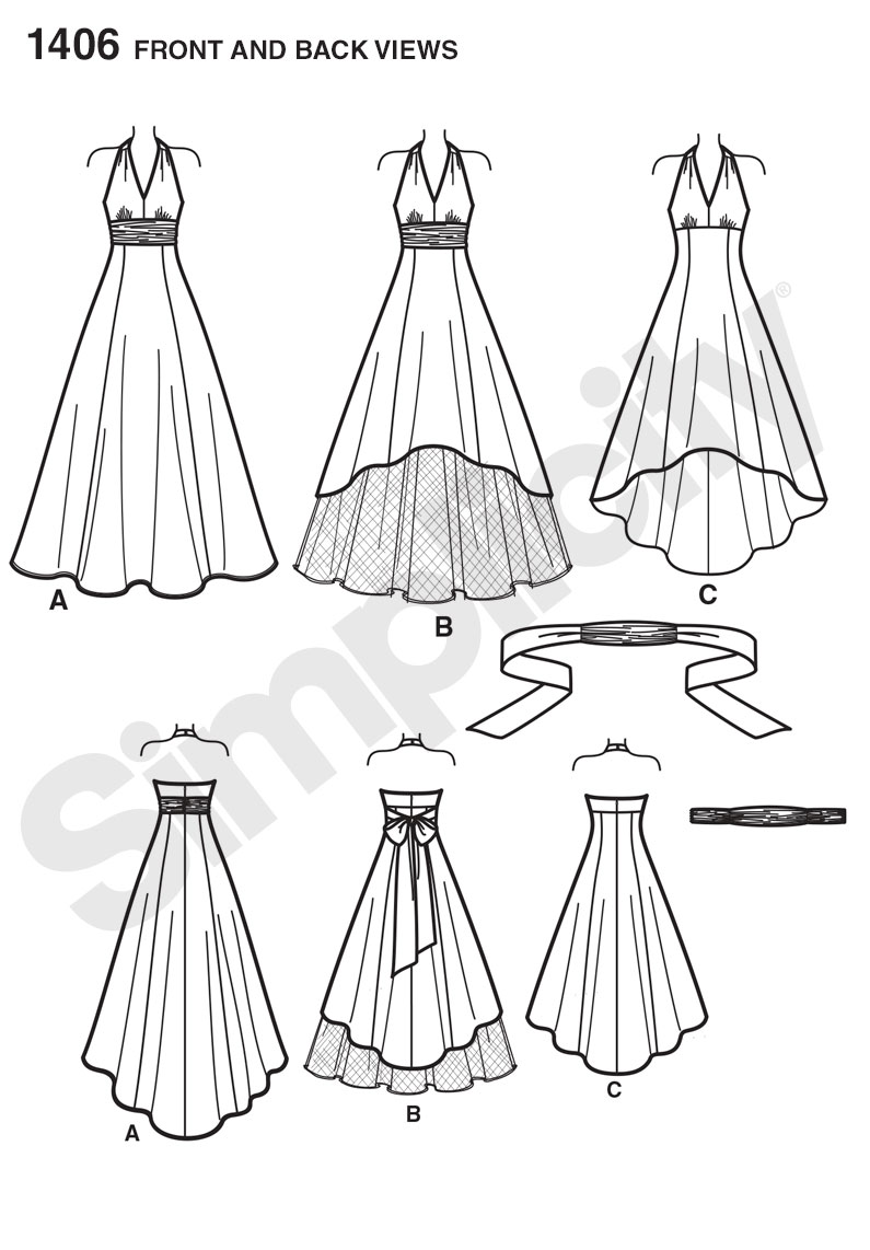 Simplicity 1406 Misses' and Plus Size Special Occasion Dress