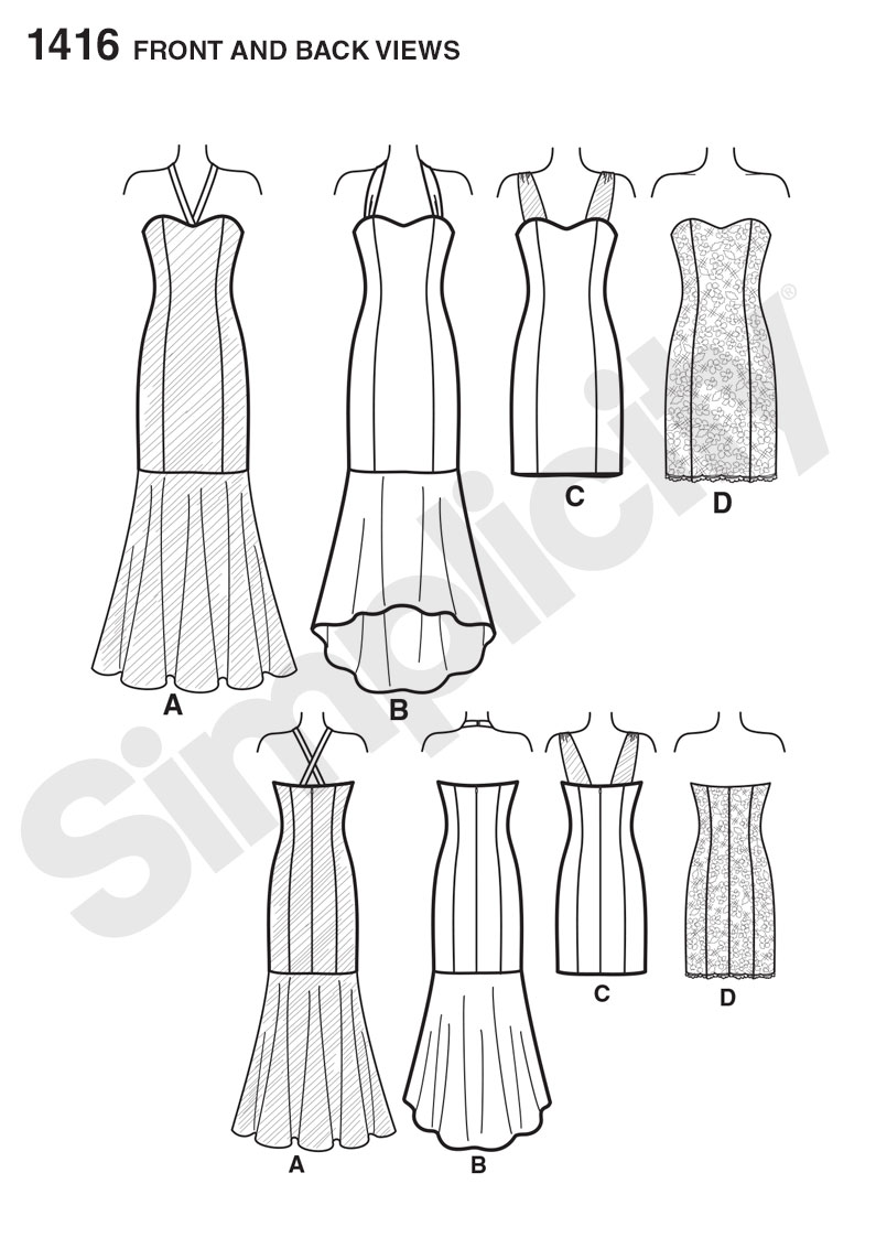 Simplicity 1416 Misses' Special Occasion Dresses SUEDEsays