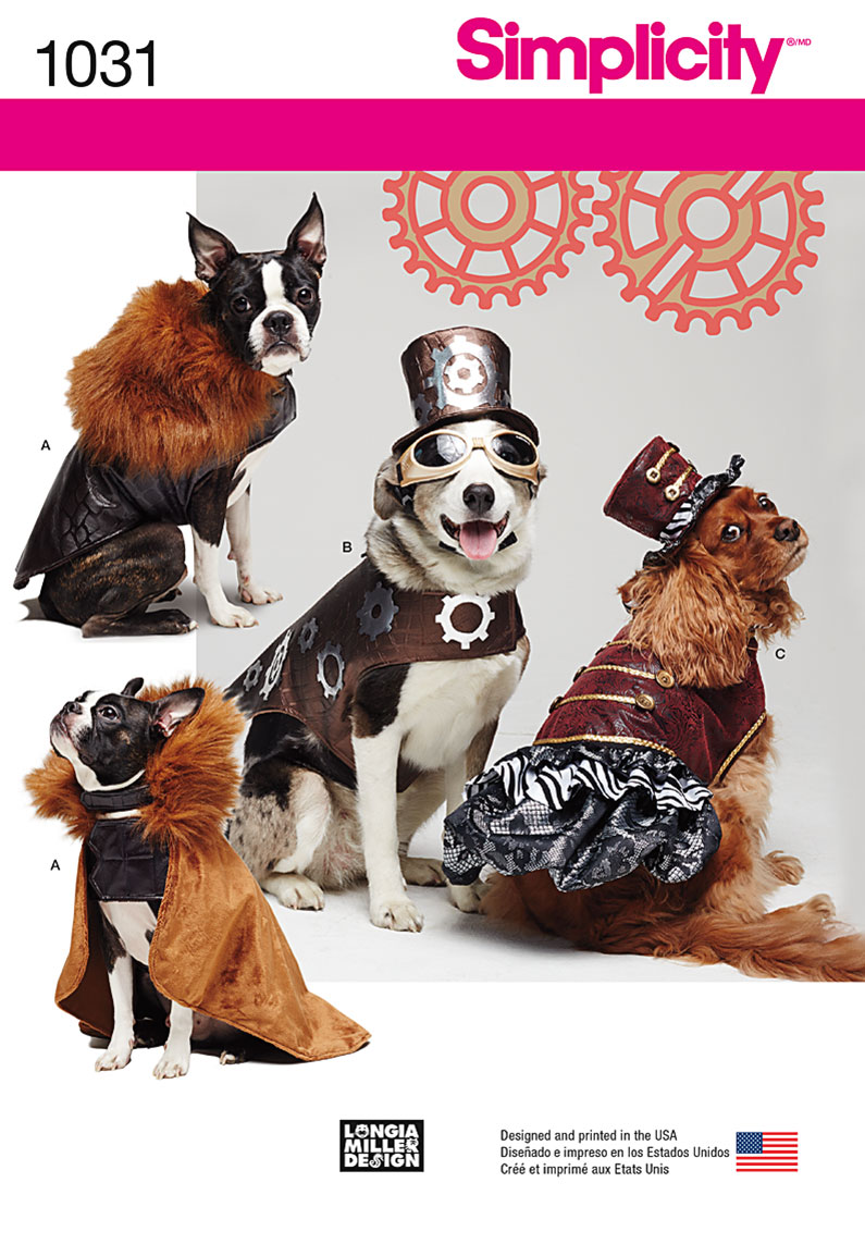 Simplicity 1031 Dog Costume Coats and Hats