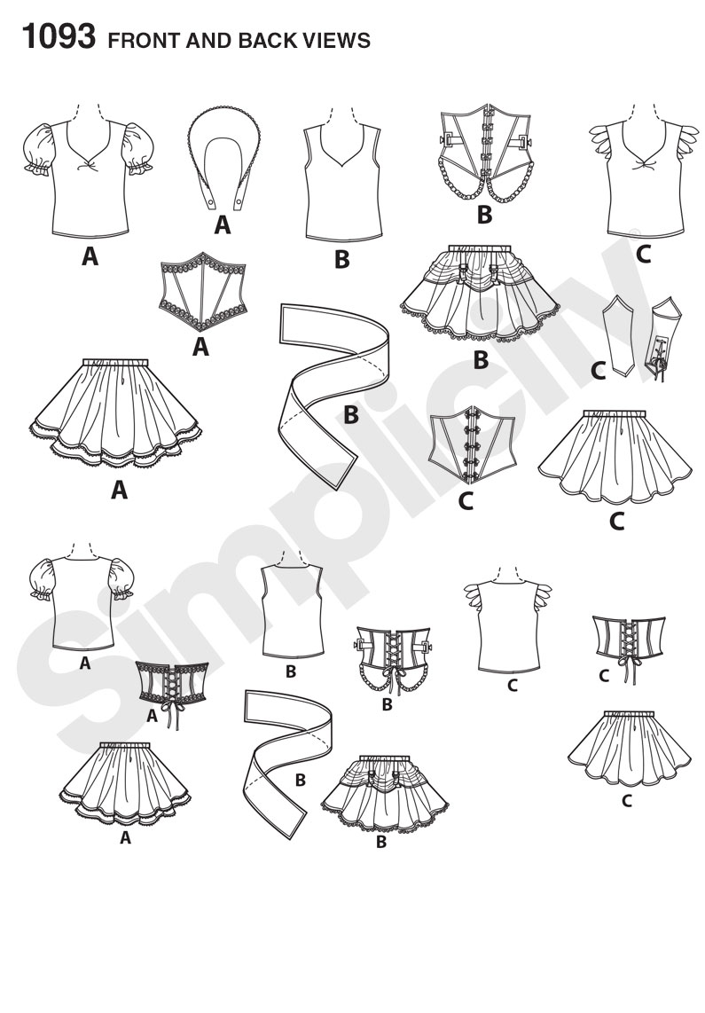 Simplicity 1093 Misses' Cosplay Costumes sewing pattern