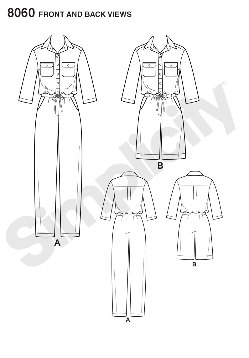 Simplicity 8060 Misses' Jumpsuits from Mimi G Style