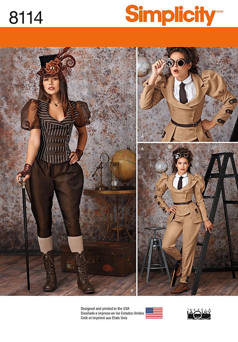 Steampunk Patterns Simplicity : steampunk, patterns, simplicity, Simplicity, Misses', Steampunk, Costumes