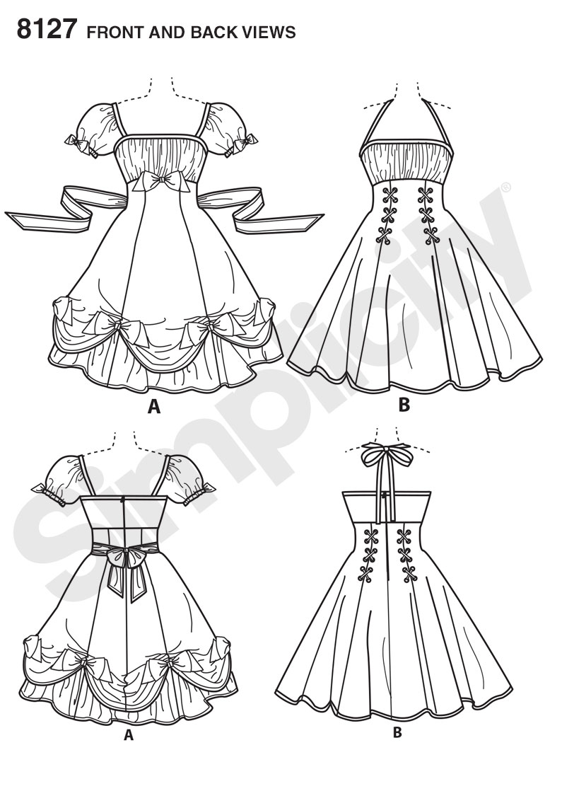 Simplicity Simplicity Pattern 8127 Misses' Lolita and