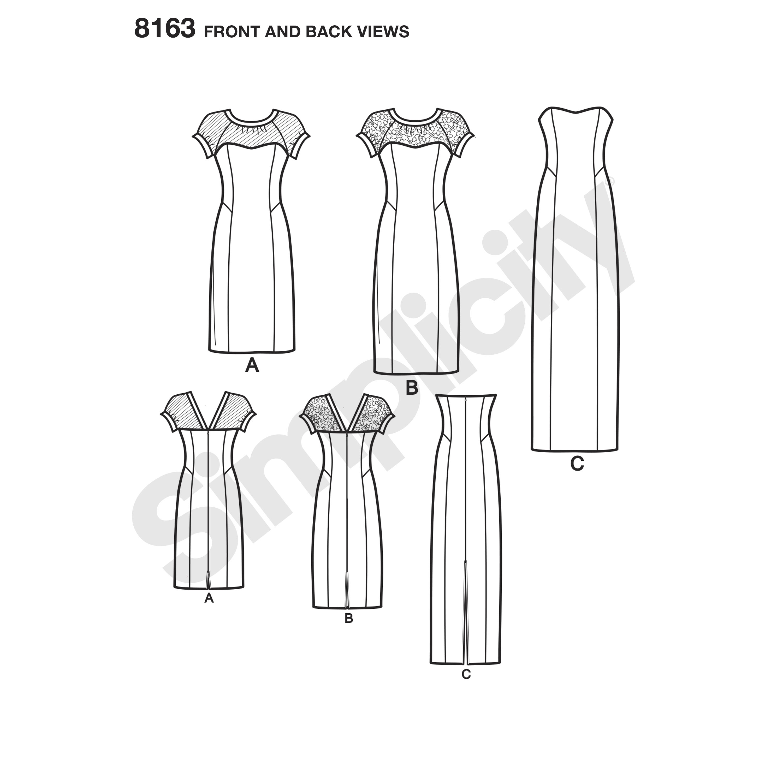 Simplicity 8163 Misses' and Plus Size Amazing Fit Dress