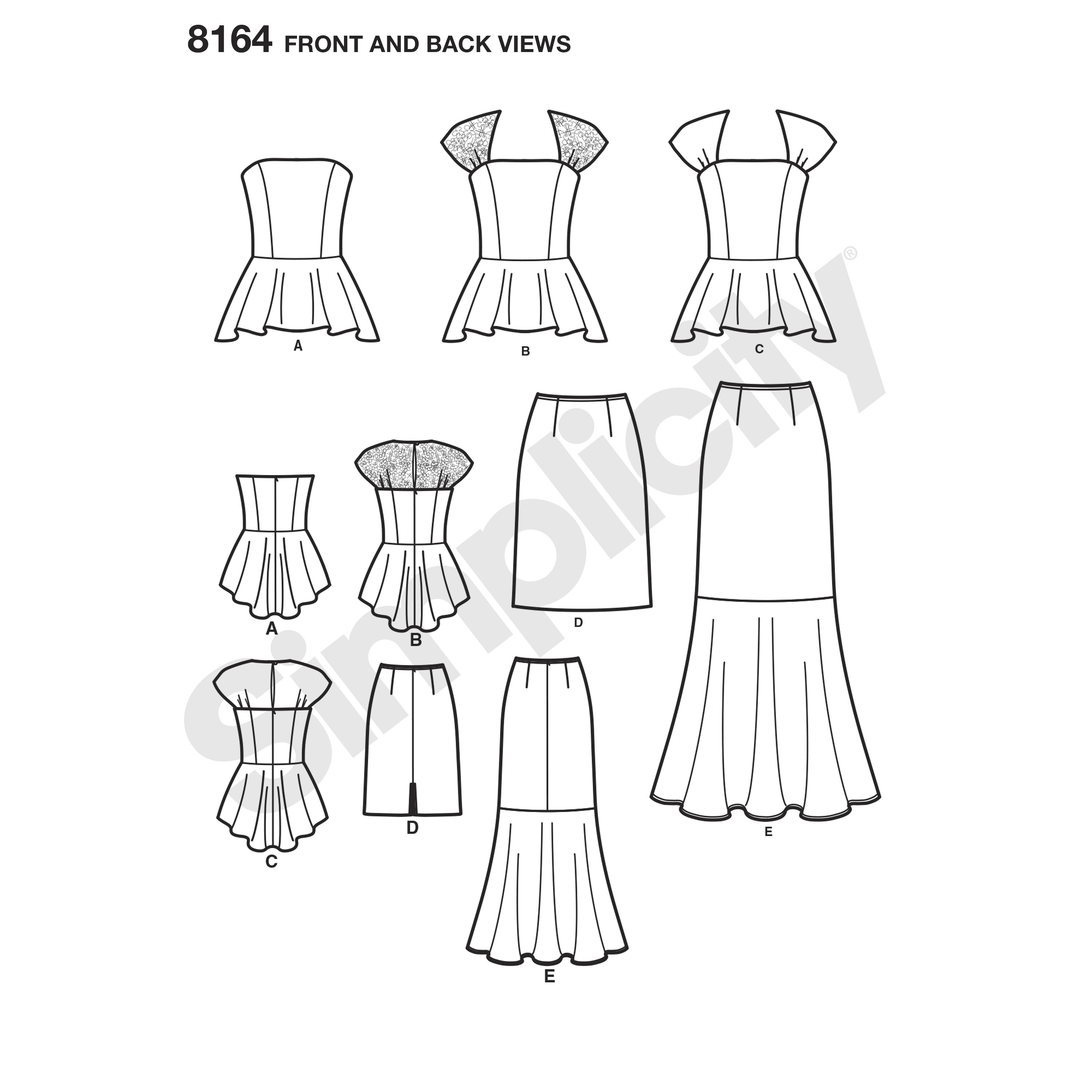 Simplicity 8164 Misses' and Petites Formalwear Dresses