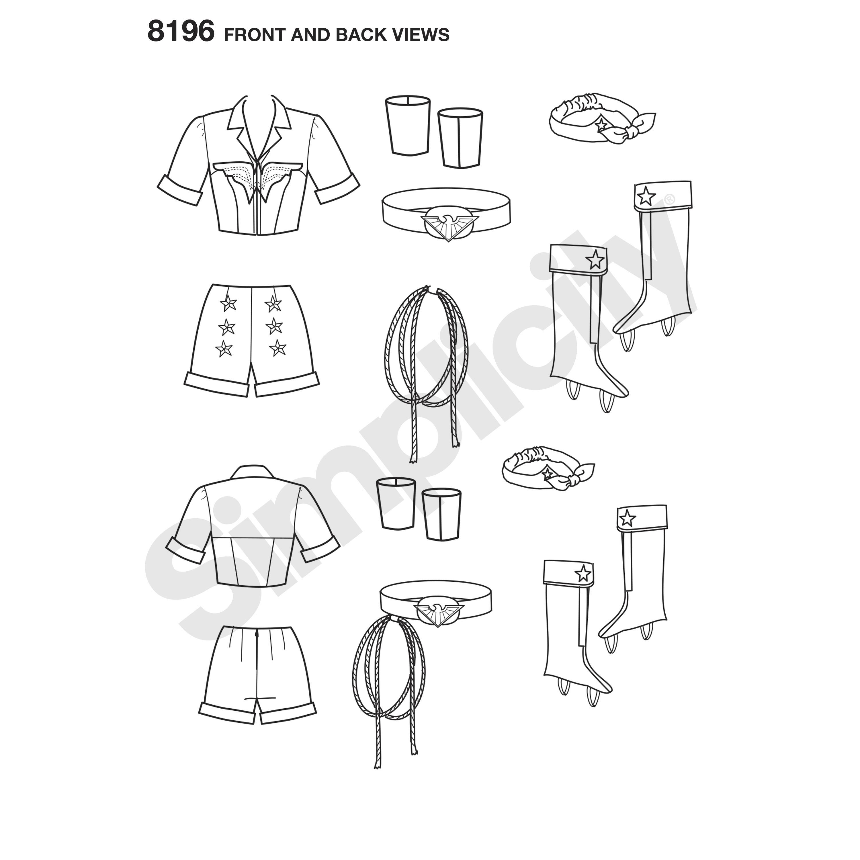 Simplicity 8196 Misses' Costume