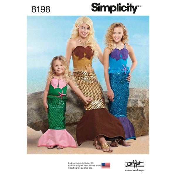 Simplicity 8198 Girls' And Misses' Costume Sewing Pattern