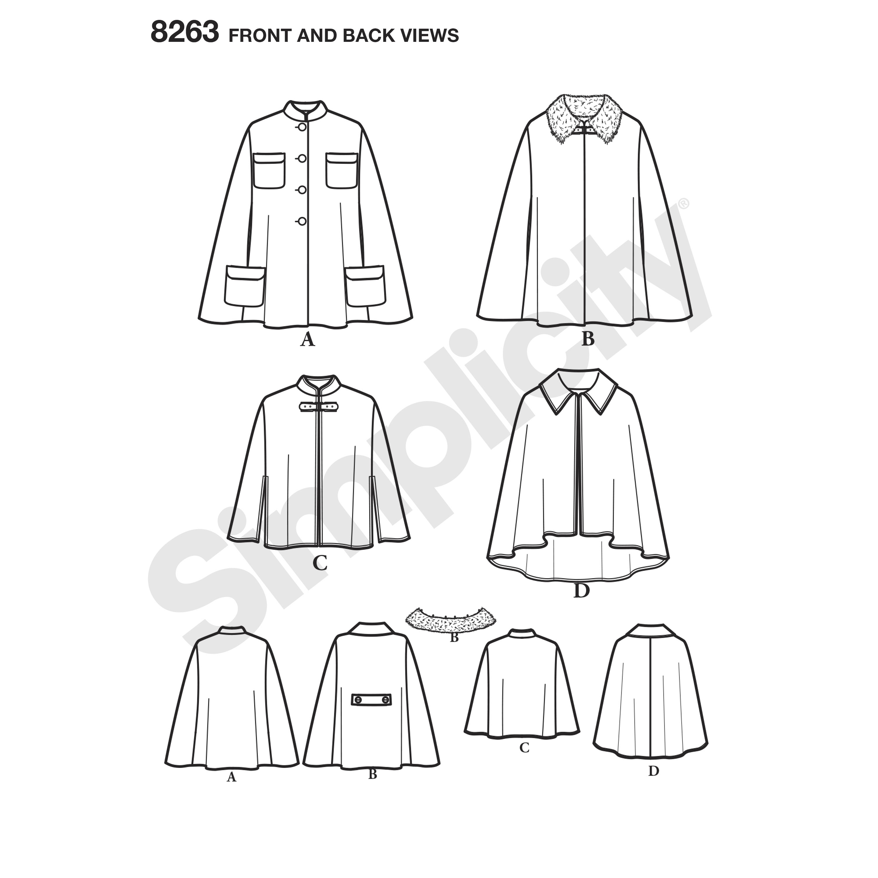 Simplicity Simplicity Pattern Misses Capes And Capelets