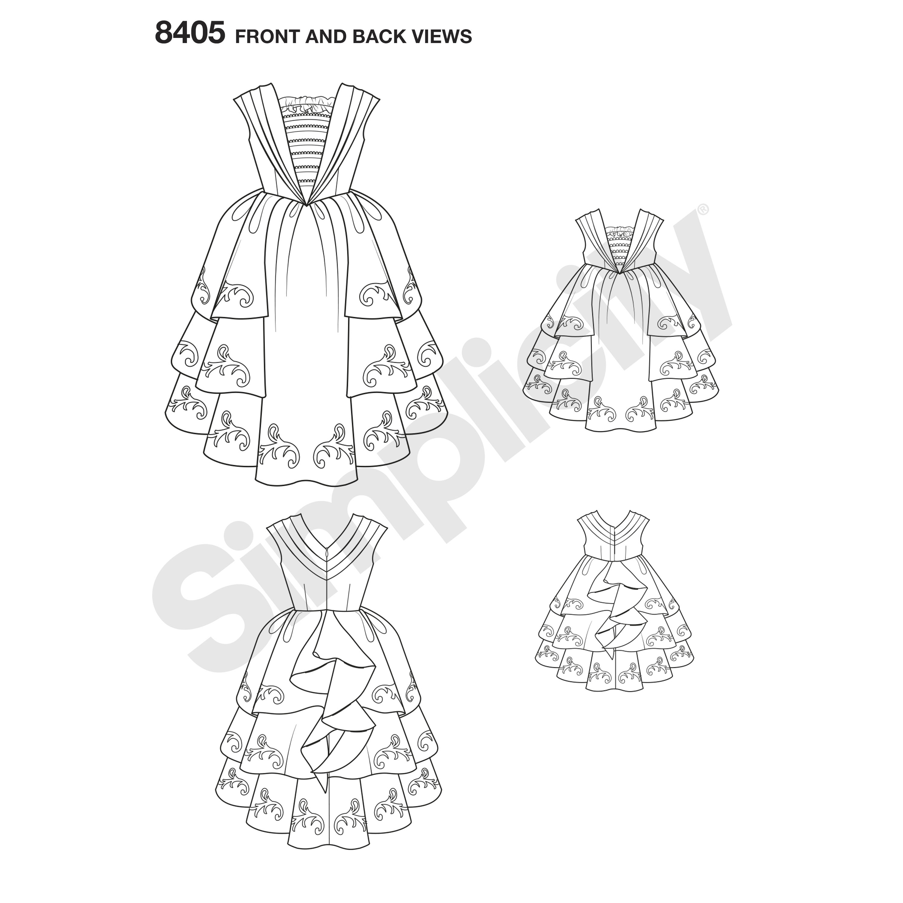 Simplicity 8405 Disney Beauty and the Beast Costume for