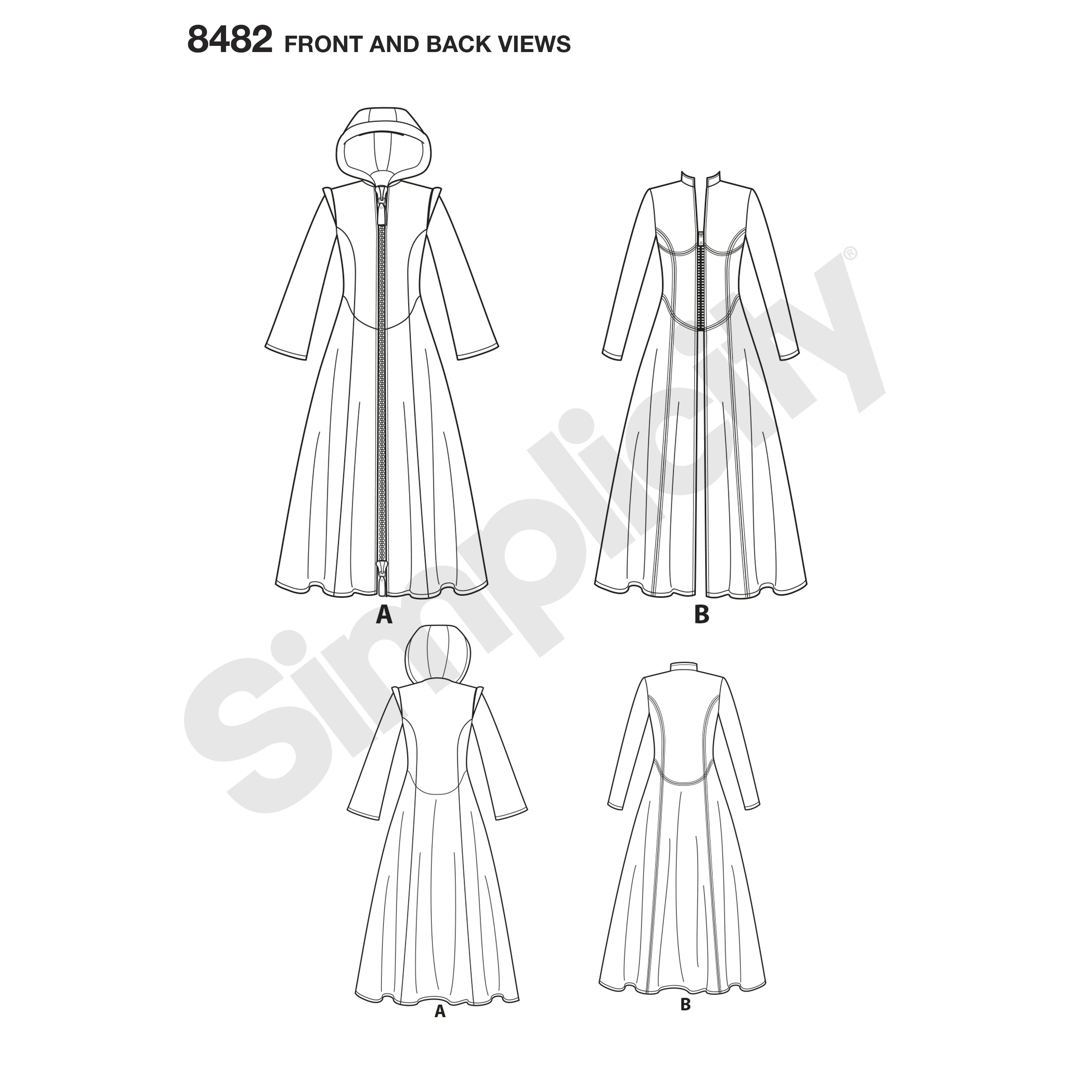 Simplicity Pattern Msses Costume Coats
