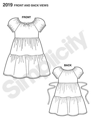Simplicity 2019 Sew Simple childs pullover dress