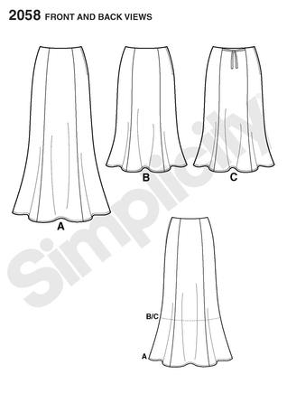 Simplicity 2058 Misses/Women's skirt sewing pattern