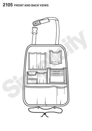 Simplicity 2105 Car Organizer sewing pattern