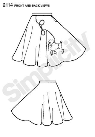 Simplicity 2114 Misses Costume Poodle Skirt sewing pattern