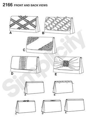Simplicity 2166 Clutch Bags