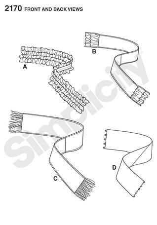 Simplicity 2170- Scarves