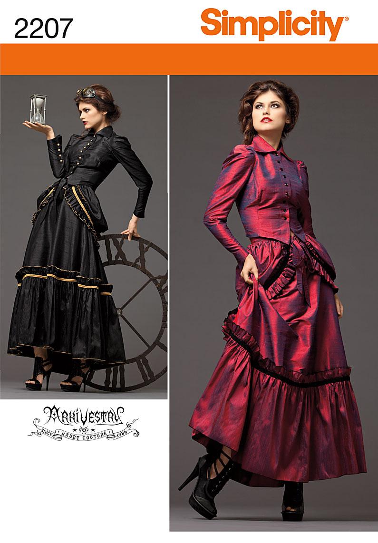 Steampunk Patterns Simplicity : steampunk, patterns, simplicity, Simplicity, Misses', Steampunk, Costume