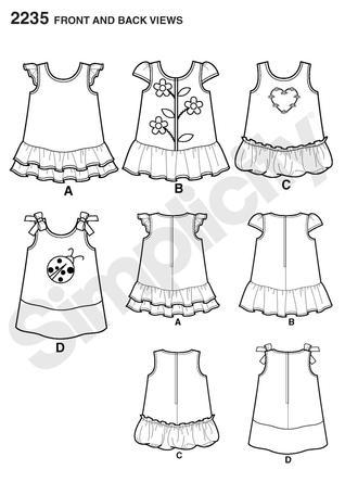 Simplicity 2235 Babies' Dresses