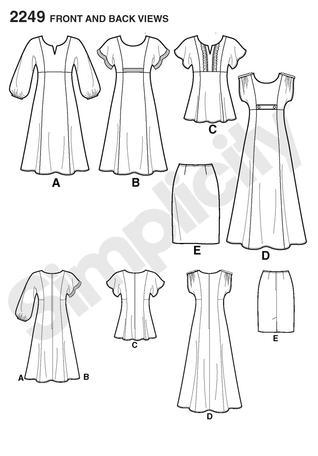 Simplicity 2249 Misses' & Plus Size Dresses