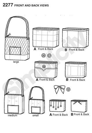 Simplicity 2277- Misses' Bags