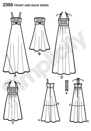 Simplicity 2398 Misses Special Occasion Dresses