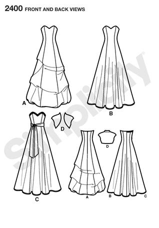 Simplicity 2400- Misses Special Occasion Dresses