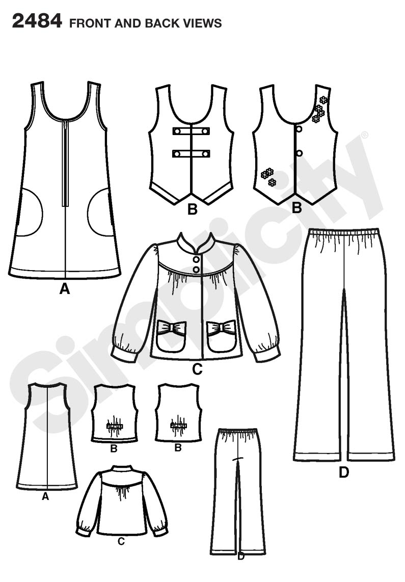 Simplicity 2484- Child/Girl Separates