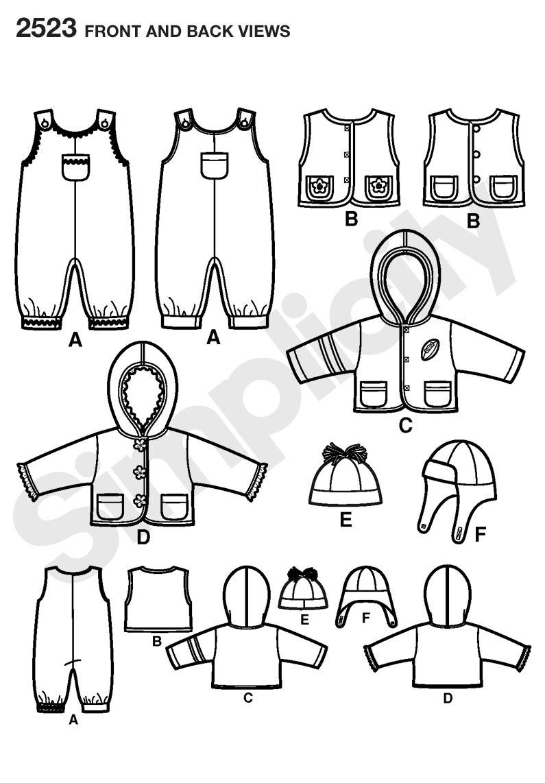 Simplicity 2523 Babies Sportswear