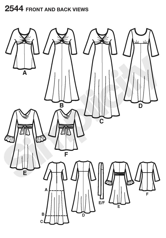 Simplicity 2544 Misses & Women's Dresses