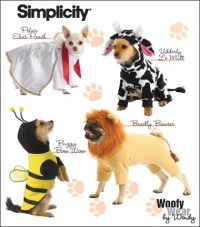 Simplicity 2839 Dog Costumes In Three Sizes