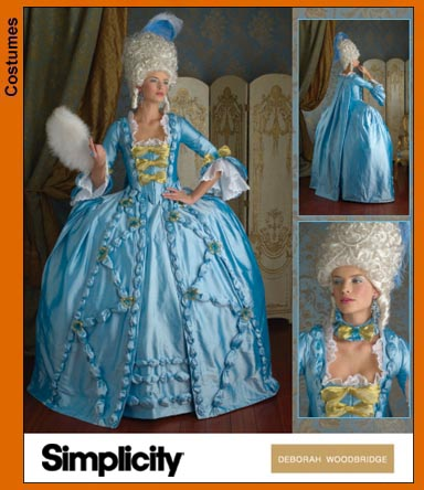 Simplicity 3637 coudre une robe xviiième