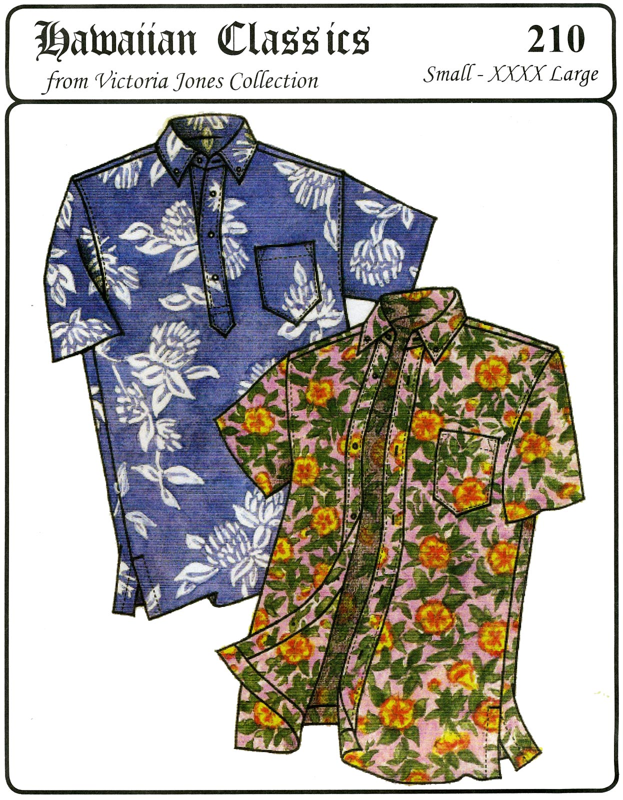 Hawaiian Shirt Patterns : hawaiian, shirt, patterns, Sewing, Pattern, Hawaiian, Shirt
