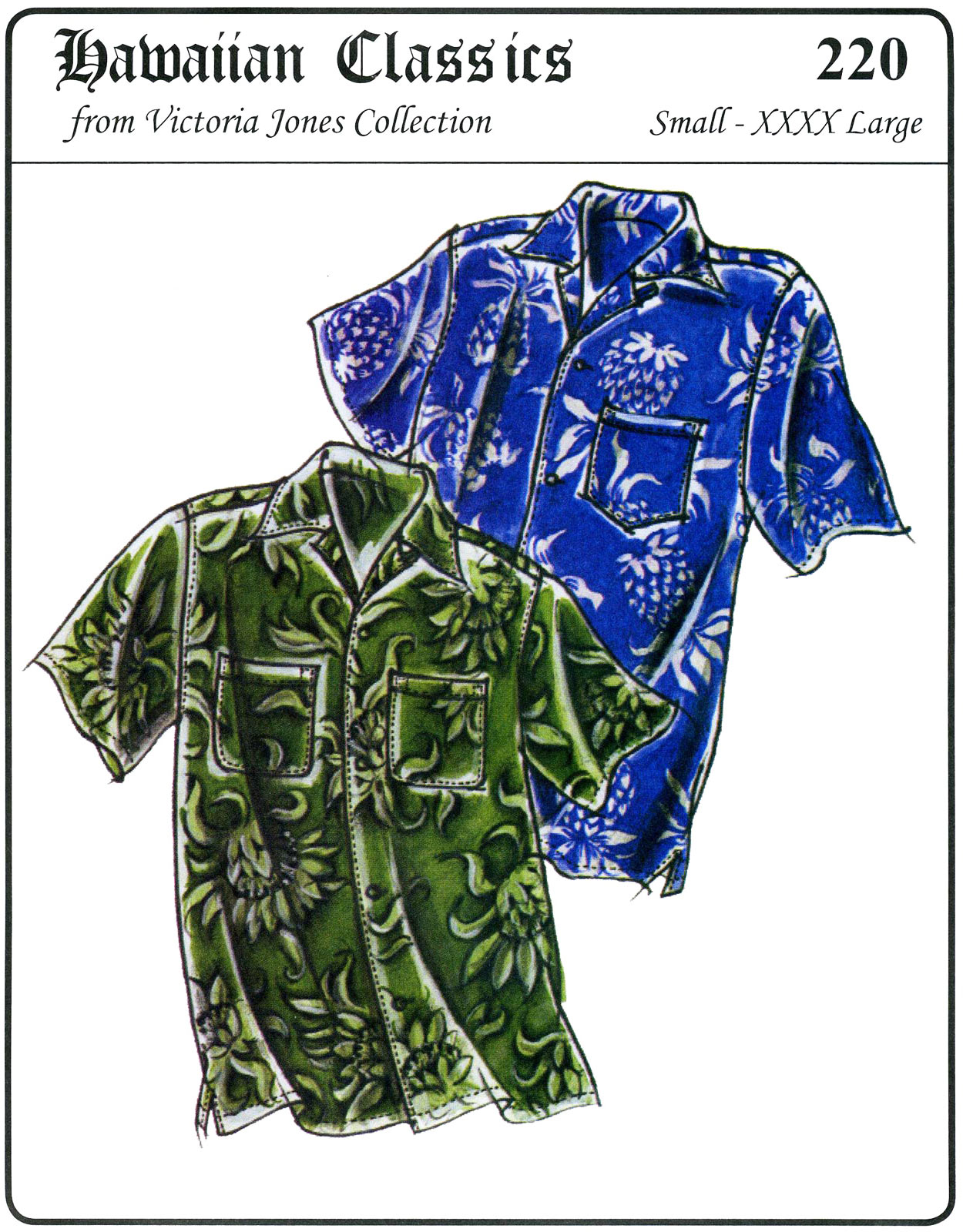 Hawaiian Shirt Patterns : hawaiian, shirt, patterns, Victoria, Jones, Collection, Men's, Hawaiian, Aloha, Shirt