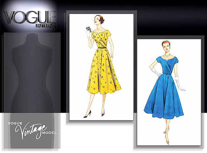 dc575afab05af vogue 1043: vintage pattern with a girly, chic look (and i used a moulage!)