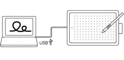 Tableta gráfica Wacom One CTL-472, USB 2.0, Small.