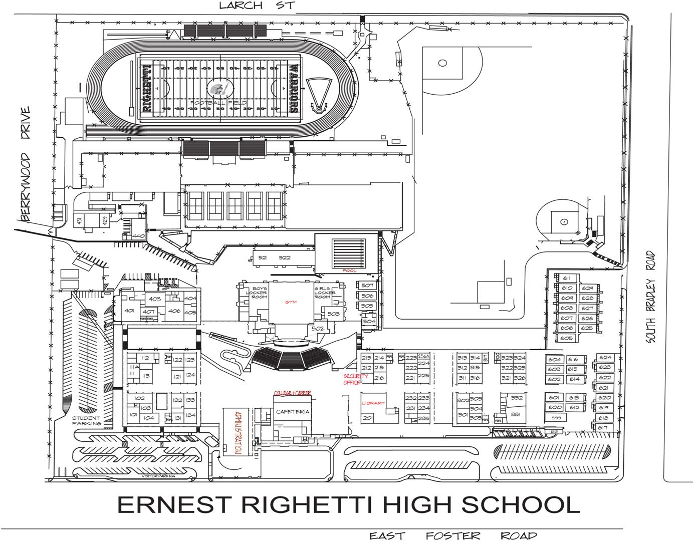 Ernest Righetti High School: Directions