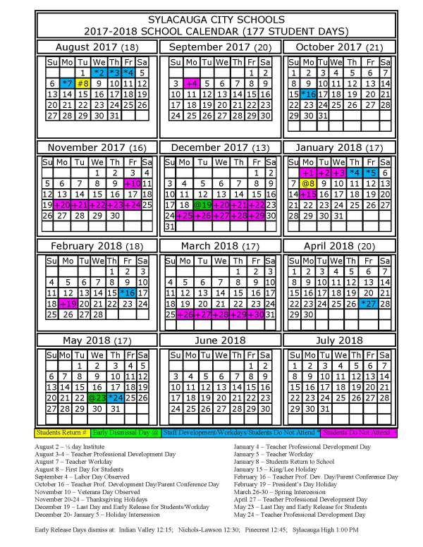 Lee County School District Calendar 2017 And 2018