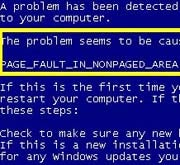The Blue Screen of Death; click for an enlarged image.