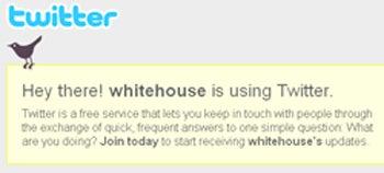 twitter white house