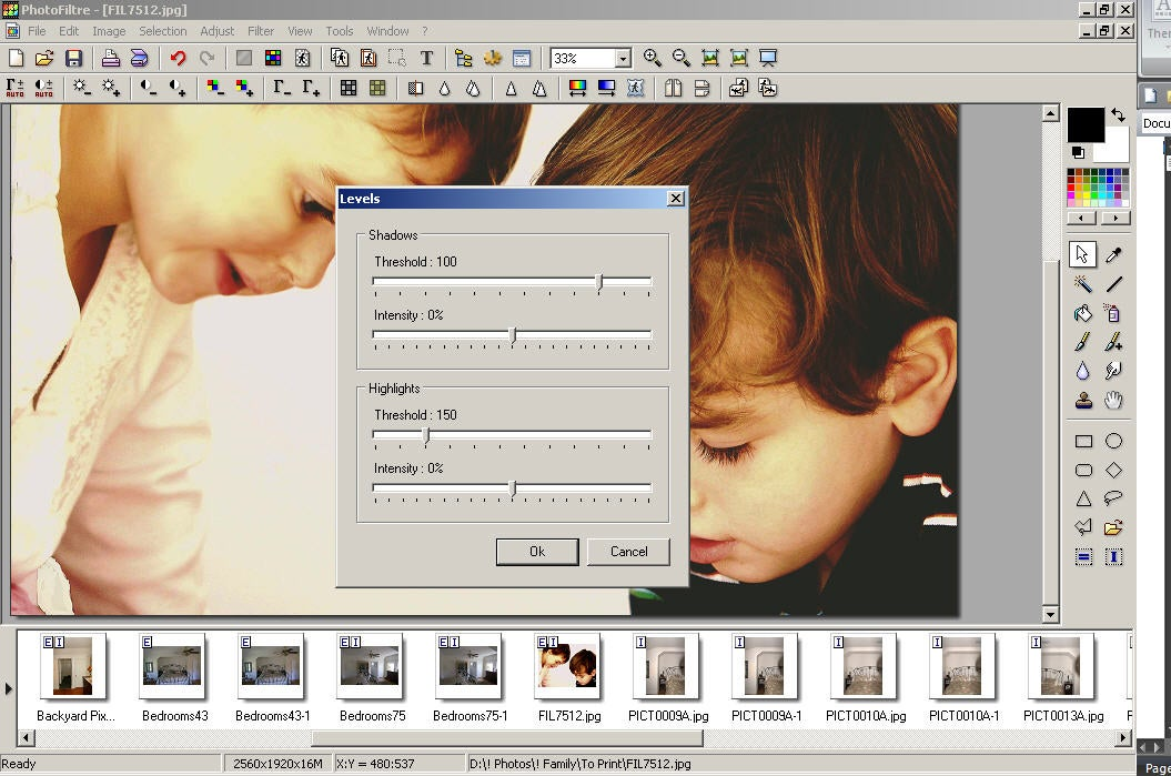 PhotoFiltre image editing software