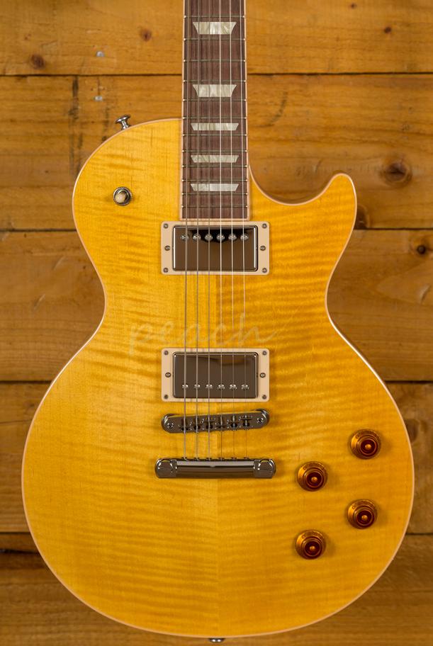 Gibson USA 2019 Les Paul Standard Trans Amber  Peach Guitars