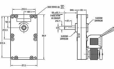 Dayton Model 5CFL5 Gear Motor 3/8