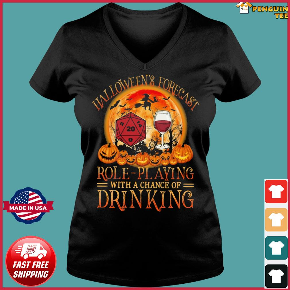 Showing days, hours, minutes and seconds ticking down to 0 Halloween's Forecast Role-playing D&d With A Chance Of Drinking Wine Shirt, hoodie, sweater ...