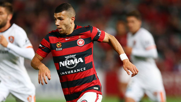 Winger Jaushua Sotirio got on the scoresheet in the Wanderers pre-season friendly win over Brisbane Roar.