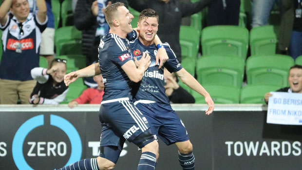 Melbourne Victory's dynamic attacking duo Besart Berisha and Marco Rojas.