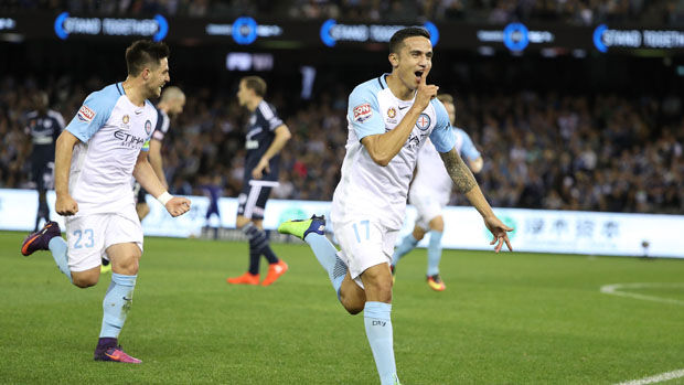 Tim Cahill silenced the Victory crowd with his stunning first-half strike.