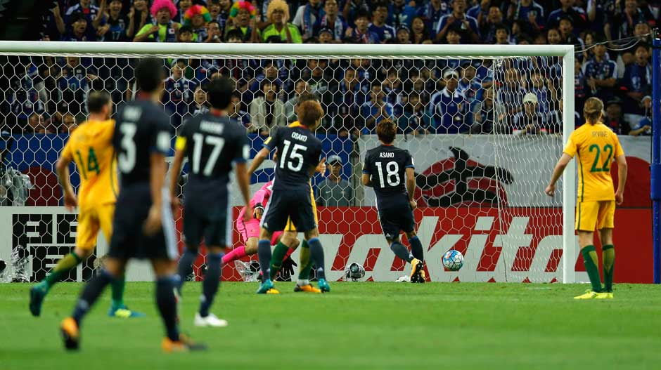 It was Japan that got the opening goal not long before the break through Asano.